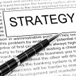 Strategy word — Foto Stock