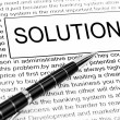 Solution word — Foto de Stock