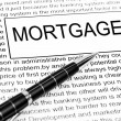 Mortgage word — Stock Photo