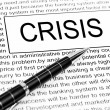 Crisis word — Stock Photo