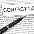 Contact us word — Stock Photo