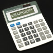Bankrupt word — Stock Photo