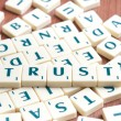 Trust word — Stock Photo #6242275