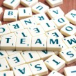 Stock Photo: Team word
