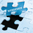 Webdesign puzzle — Stock Photo #6242354