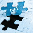 Diet puzzle — Stock Photo #6242378