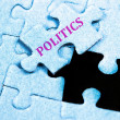 Politics puzzle — Stock Photo