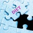 Diet puzzle — Stock Photo