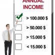 Stock Photo: Annual Income