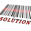 Solution on barcode — Stock Photo