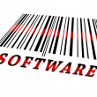 Stock Photo: Software on barcode