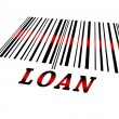 Stock Photo: Loan on barcode