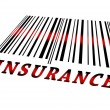Stock Photo: Insurance on barcode