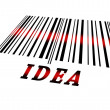 Idea on barcode — Stock Photo