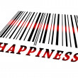 Stock Photo: Happiness on barcode