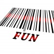 Stock Photo: Fun on barcode