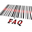 Faq on barcode — Stock Photo