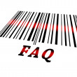 Faq on barcode - Stock Photo