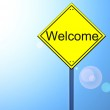Welcome on road sign — Stock Photo