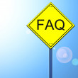 Stock Photo: Faq on road sign