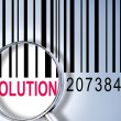 Solution on barcode — Foto Stock
