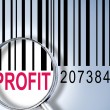 Profit on barcode — Stock Photo
