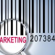Marketing on barcode — Stock Photo
