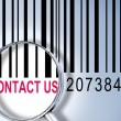 Contact us on barcode — Stock Photo #6242827