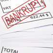 Royalty-Free Stock Photo: Bankrupt stamp on financial paper