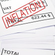 Inflation stamp on financial paper — Foto Stock