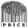 Price on barcode — Stock Photo