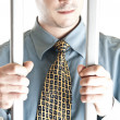 Business man in jail — Stock Photo
