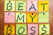 Beat my boss — Stock Photo