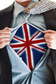 United Kingdom flag on shirt — Stock Photo