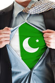 Pakistan flag on shirt — Stock Photo