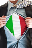 Italy flag on shirt — Stock Photo