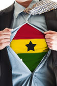 Ghana flag on shirt — Stock Photo