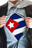 Cuba flag on shirt — Stock Photo