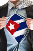 Cuba flag on shirt — Stock Photo