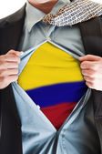 Colombia flag on shirt — Stock Photo
