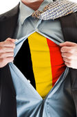 Belgium flag on shirt — Stock Photo