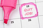 Quit job mark — Foto de Stock