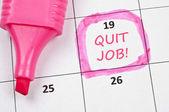 Rzucić pracę znak — Zdjęcie stockowe