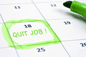 Quit job mark — Stockfoto