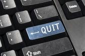 Quit key — Stock Photo
