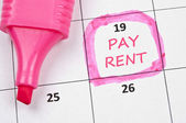 Pay rent mark — Stock Photo