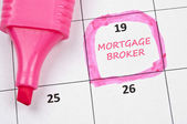 Mortgage broker mark — Stock Photo