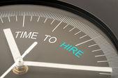 Tiempo para contratar — Foto de Stock