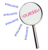 Evaluate yourself — Stock Photo