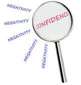 Negativity and confidence — Stock Photo